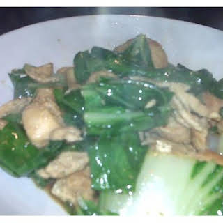 Chicken With Bok Choy.