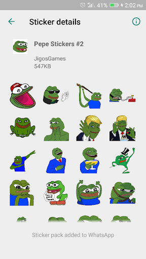 Pepe Meme Stickers Wastickerapps App Report On Mobile