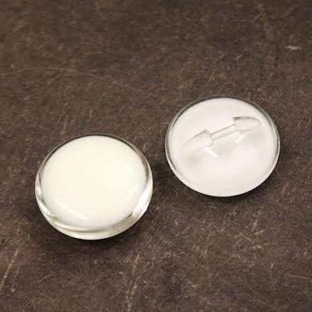 Plastknapp 23mm - cream