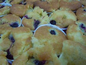 Photo: cake aux fruits rouges