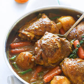Slow Cooker Jamaican Curry Chicken.