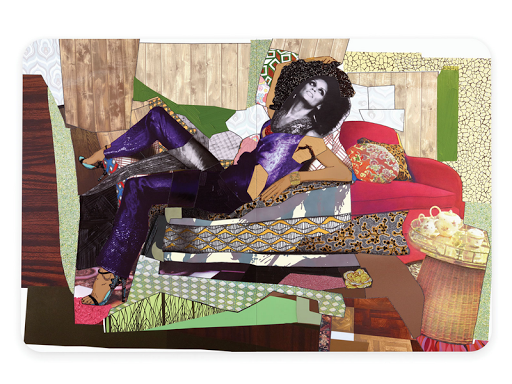 Mickalene Thomas collage artwork