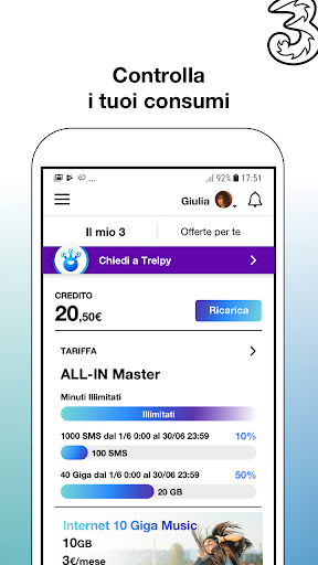 My3 | Area Clienti 3 7.3.1 screenshots 1