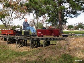 Photo: Gil Freitag, with caboose now at the rear of the train.   2009-1127 HALS Anniversary Meet