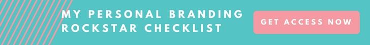 Personal Branding Rockstar Checklist