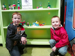 Photo: Nicky made the snowman, Dexter the house and Joel the sleigh.