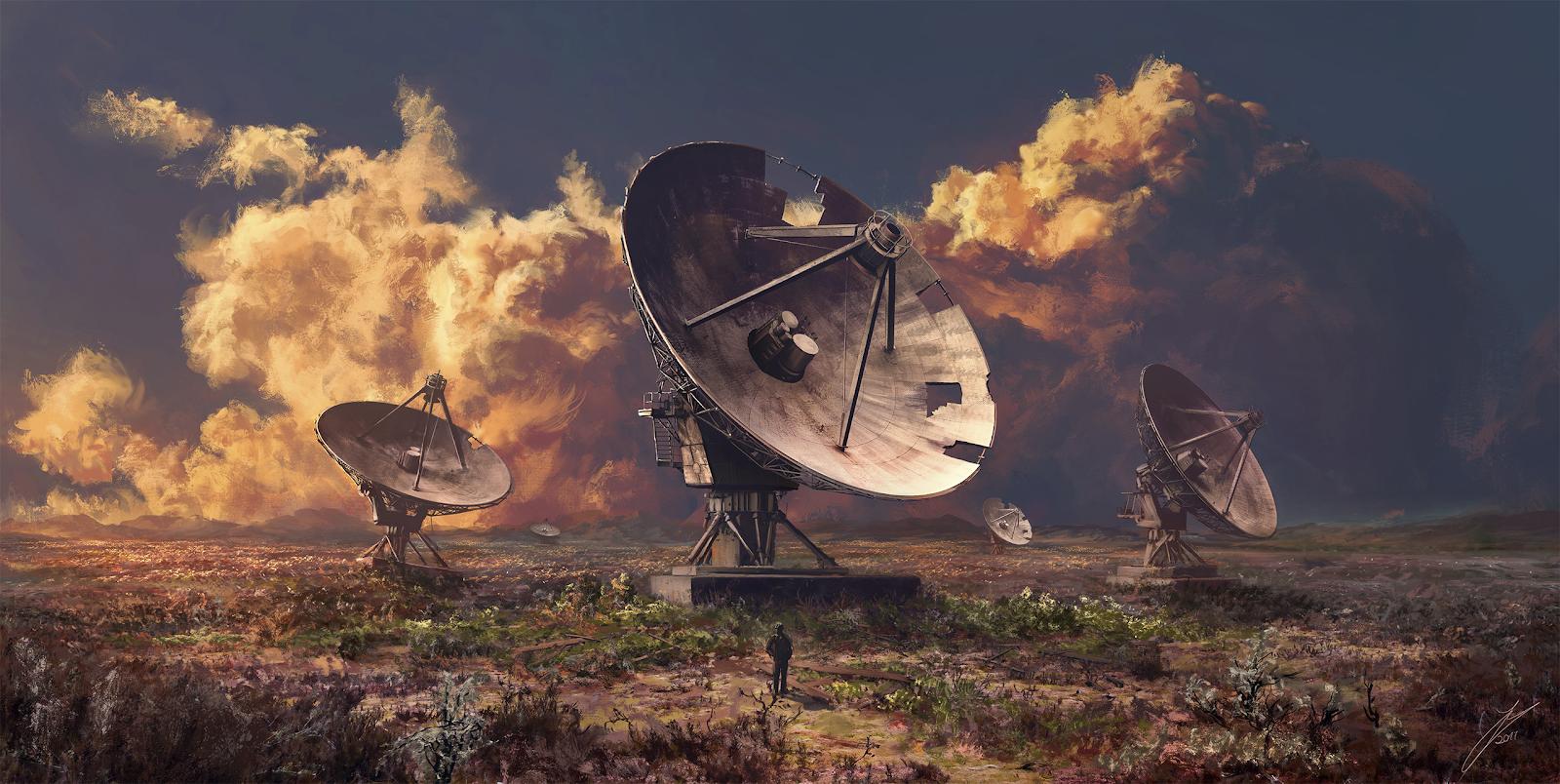 Fantasy Wallpaper - Fields of Silence by Julian Bauer