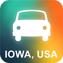 Iowa, USA GPS Navigation icon
