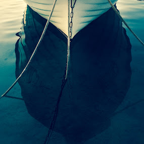 Self Reflection by Goran Grudić - Transportation Boats ( water, croatia, cres, sea, boat, island,  )