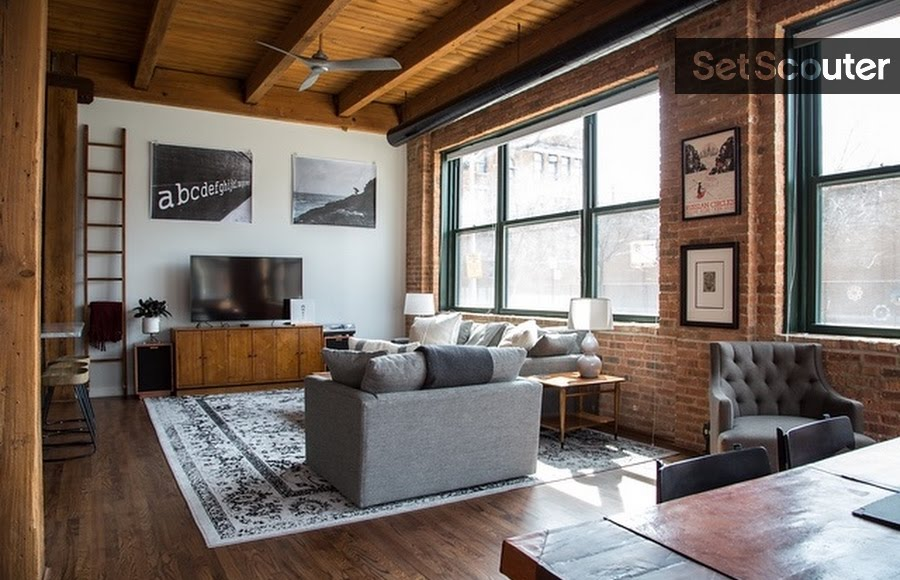 Industrial Loft With Classic Mid Century Modern Decor Set Scouter