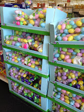 Photo: Right away the prospects looked good. Just inside the door was a huge display of Easter eggs and basket fillers.