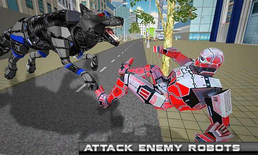 robot hélicoptère transform loup robot futuriste  captures d'écran 2