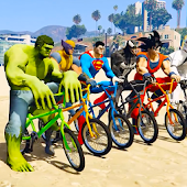 Super heroes Bike Race Free