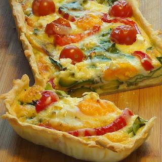 Summer Vegetable & Egg Tart