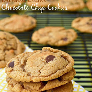 Gluten Free Browned Butter Chocolate Chip Cookies.