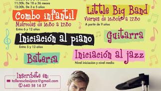 Cartel de Talleres Infantiles en Clasijazz.