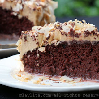 Chocolate Tres Leches Cake With Dulce De Leche Frosting