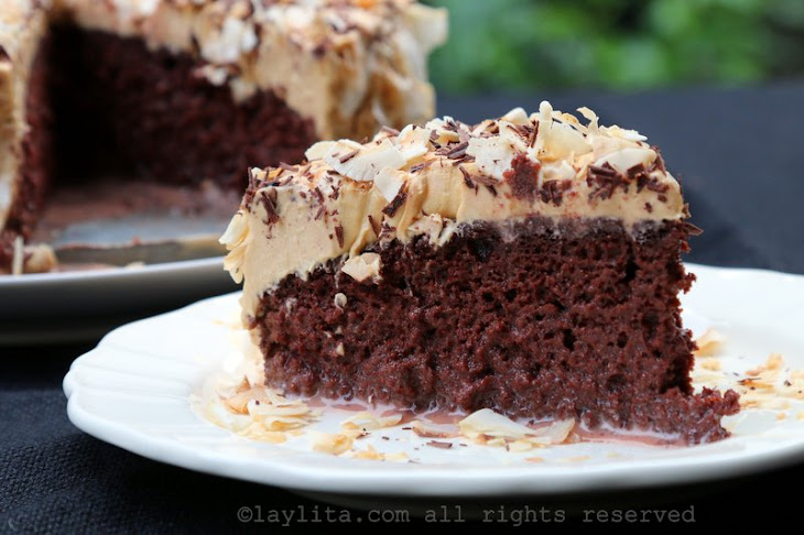 Chocolate Tres Leches Cake With Dulce De Leche Frosting Recipe ...