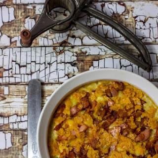 Keto Tuna Mornay with Salty Bacon & Cheese.