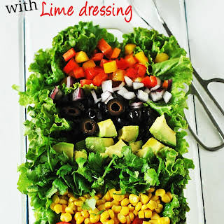 Mexican Salad with Lime Dressing.