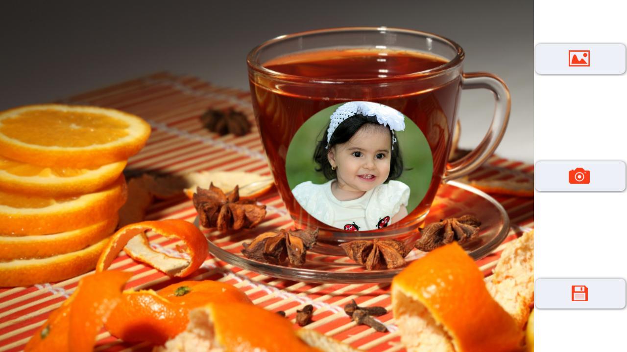 Coffee cup frames - Coffee Cup Photo Frame Screenshot