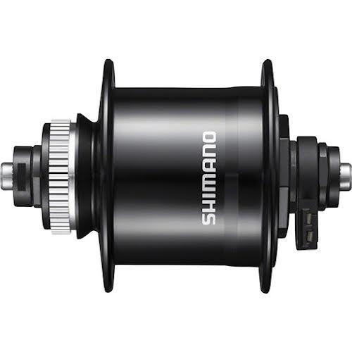 Shimano Metrea DH-UR700-3D Dynamo Front Hub - QR x 100mm, Center-Lock, Black, 32h