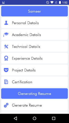 my resume cv builder android app screenshot - My Resume Cv Builder
