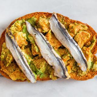 Avocado Toast With Boquerones and Smoked Paprika.