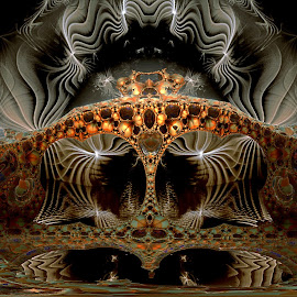 Silver And Gold by Rick Eskridge - Illustration Abstract & Patterns ( jwildfire, mb3d, fractal, acdsee 19, twisted brush )