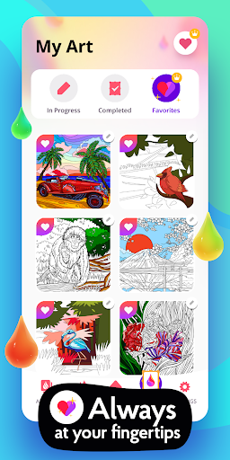 Colorain: Paint by Numbers or use Coloring Palette  screenshots 7
