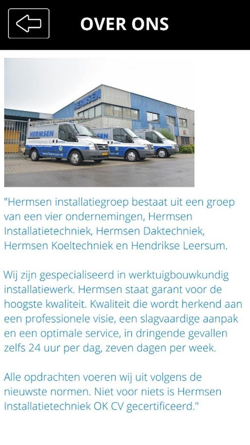 Hermsen Installatiegroep- screenshot