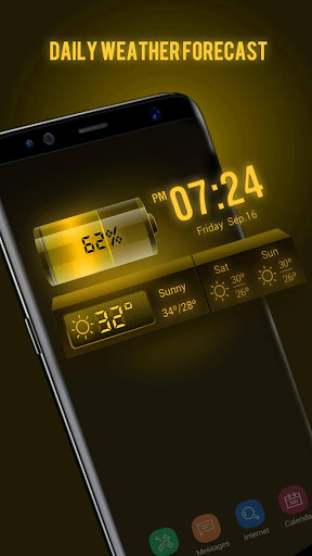 Weather Forecast Widget with Battery and Clock  screenshots 3
