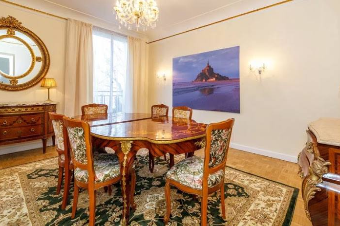 Dining space at Rue de Monceau Serviced Apartment, Champs Elysees