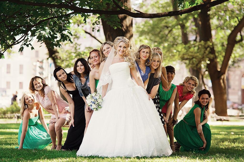 Оригинальные фотографии на свадьбе