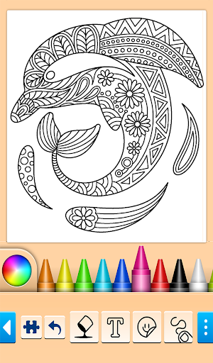Dolphin and fish coloring book 14.0.4 screenshots 1