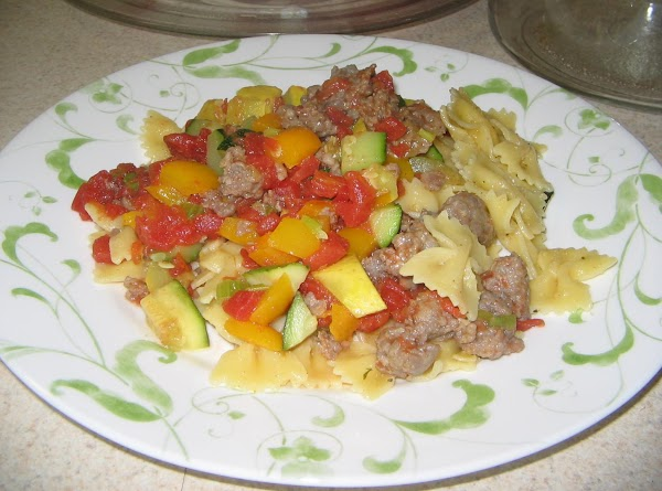 In a dry pan place the sausage and scramble to brown with the celery,...