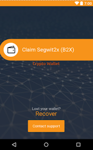 Segwit2x Bitcoin Wallet - náhled