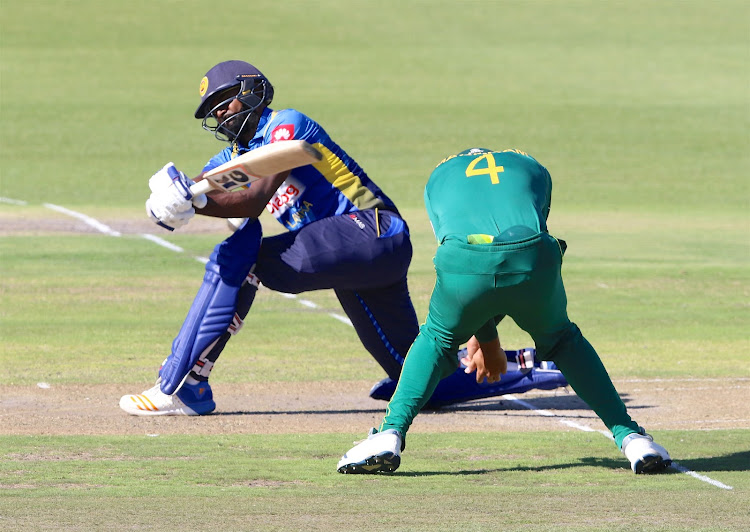 Isuru Udana of Sri Lanka during the 4th ODI against South Africa at St George's Park on March 13 2019 in Port Elizabeth, South Africa.