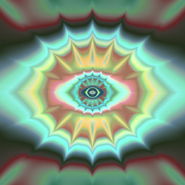 Eye by Cassy 67 - Illustration Abstract & Patterns ( abstract, pastel, wallpaper, digital, eyes, love, spiritual, abstract art, digital art, harmony, fractal, fractals, light, energy, eye )