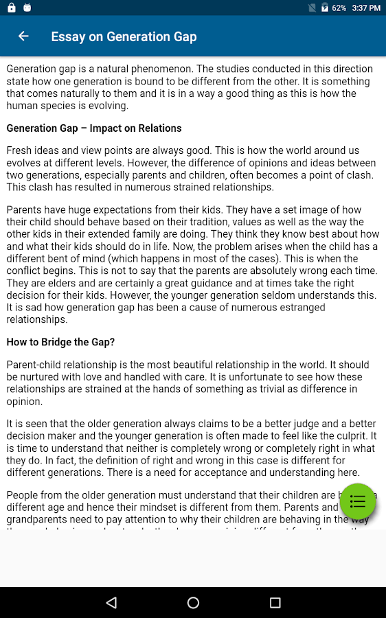 Customessay English Essay Collection For All School Students Android Apps On English  Essay Collection For All School English Essay Generation Gap My Bedroom Essay also Essay On Sigmund Freud Generation Gap Essay Generation Gap Essay For Students In English  Essays Written By Maya Angelou
