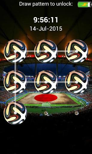 サッカーの画面ロックパターン