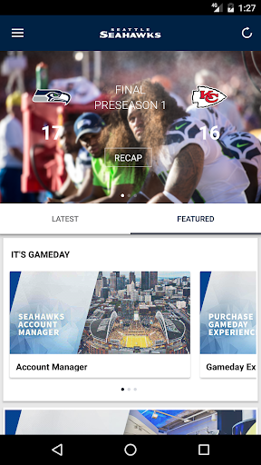 Seattle Seahawks Mobile screenshot