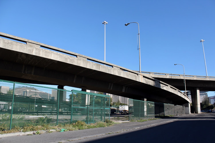 A 'safe space' for homeless people at the Culemborg bridge in Cape Town is being prepared.