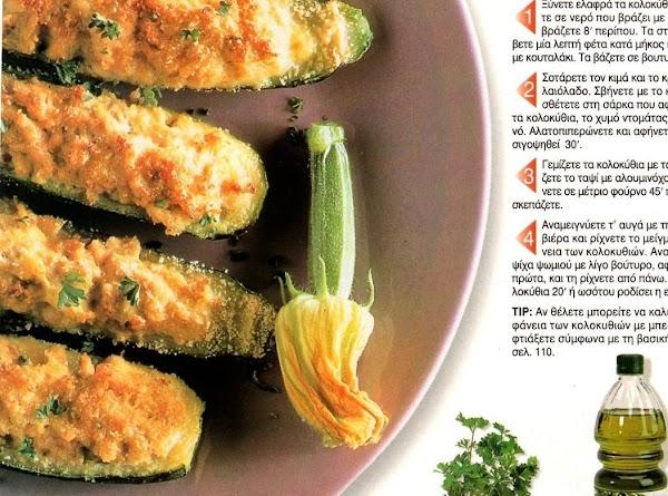 Kolokithia Varkoules  Cheese Zucchini Boats Recipe