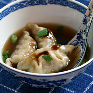 Quick and easy Chinese dumpling soup.