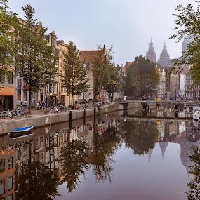 Amsterdam by Mario Guay - City,  Street & Park  Street Scenes