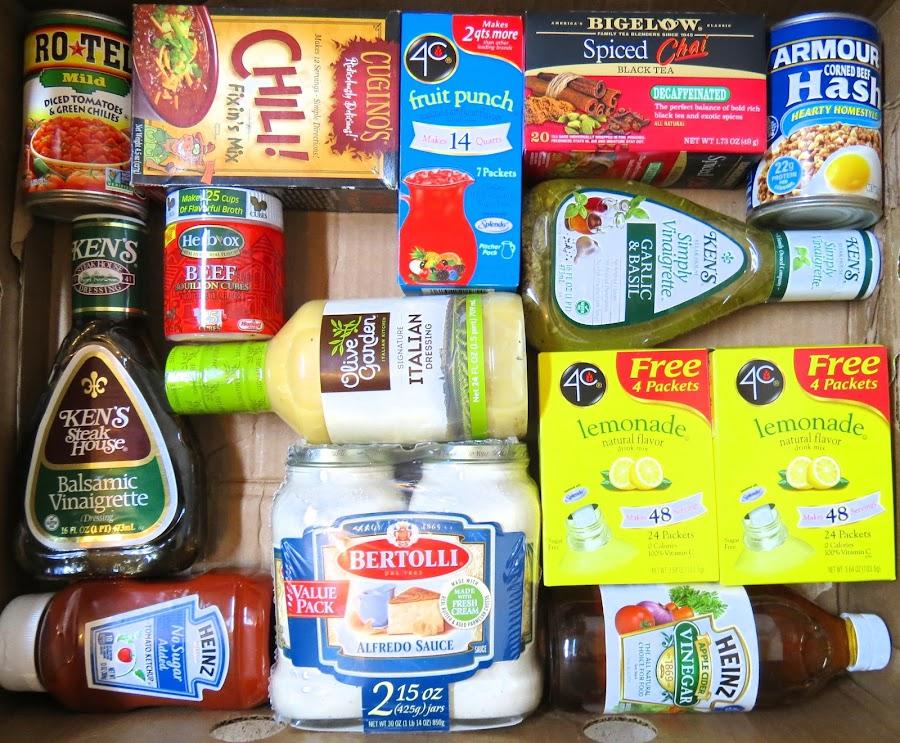 Beverages & Condiments Knolling by Rita Goebert - Food & Drink Ingredients ( tea; lemonade; salad dressing; ketsup; vinegar; bouillion;hash; salad dressings, knolling,  )