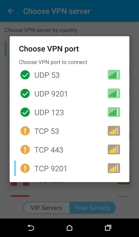 Zero VPN- screenshot