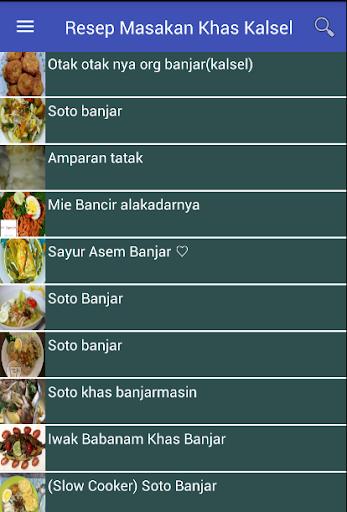 Resep Masakan Khas Kalsel screenshot