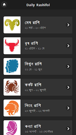 Daily Rashifal Bangla